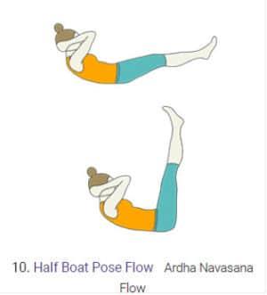 Half Boat Pose Flow Ardha Navasna Flow 10