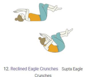 Reclined Eagle Crunches