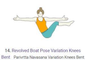 Revolved Boat Pose