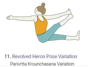 Revolved Heron Pose - Parivrtta Krounchasana Boat