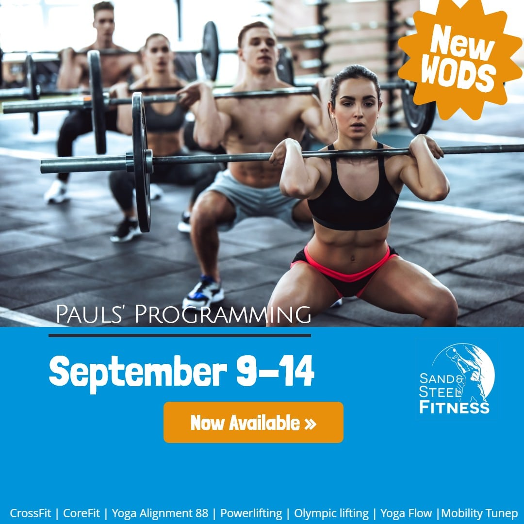 Workouts Programming Alexandria September 9-14