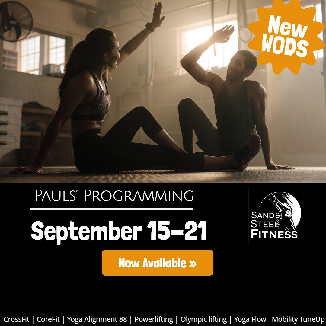 Workouts Programming Alexandria_ 190915-190921