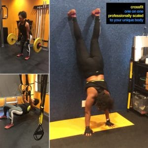 Private CrossFit Coaching - Ring Row and Wall Walkers Square