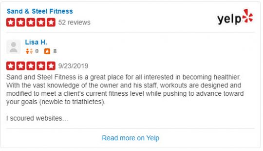 Yelp Sand and Steel Reviews