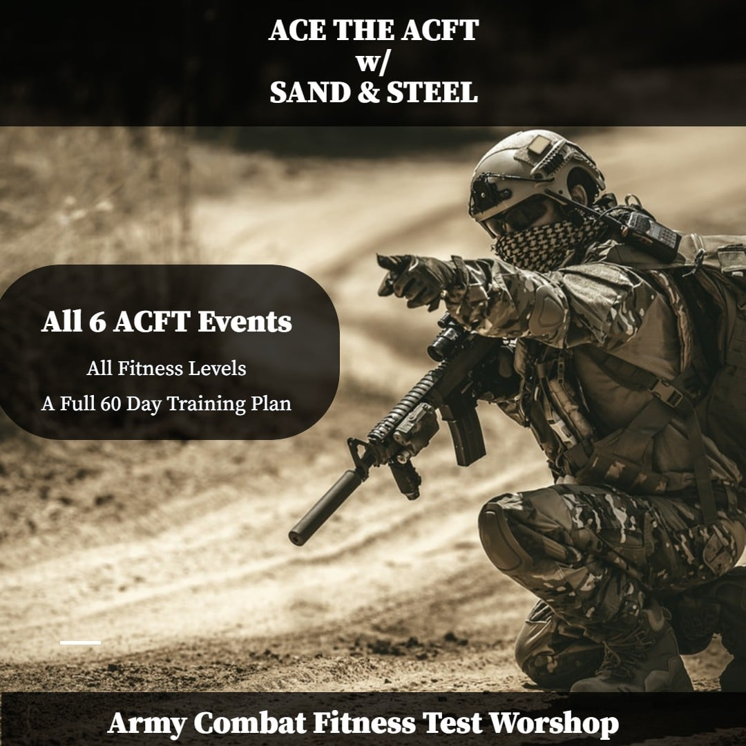 Army Combat Fitness Test Workshop and Training Plan