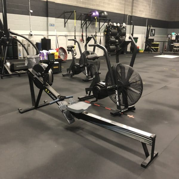 Concept 2 Rower and Rogue Fitness Echo Bike