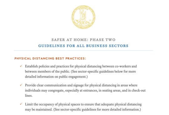 Virginia Phase 2 Guidelines