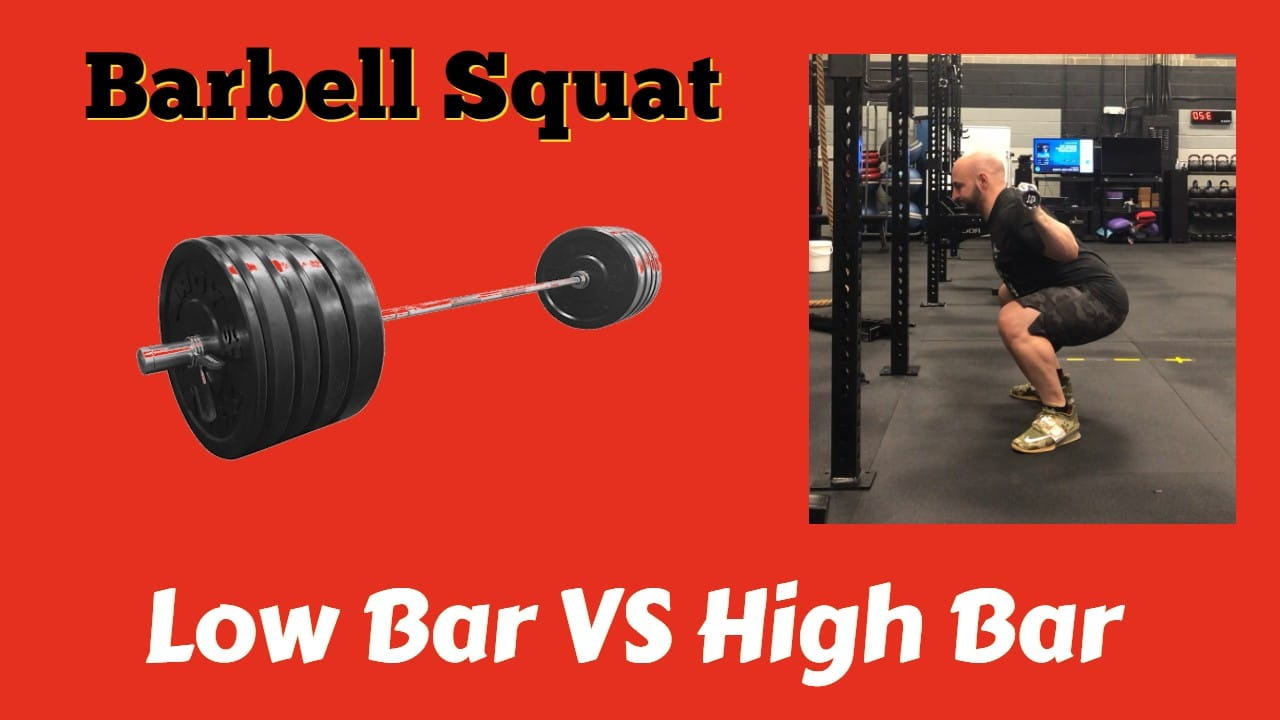 Barbell Squat High Bar vs Low Bar Back Squat