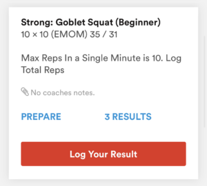 Beginner Level WOD
