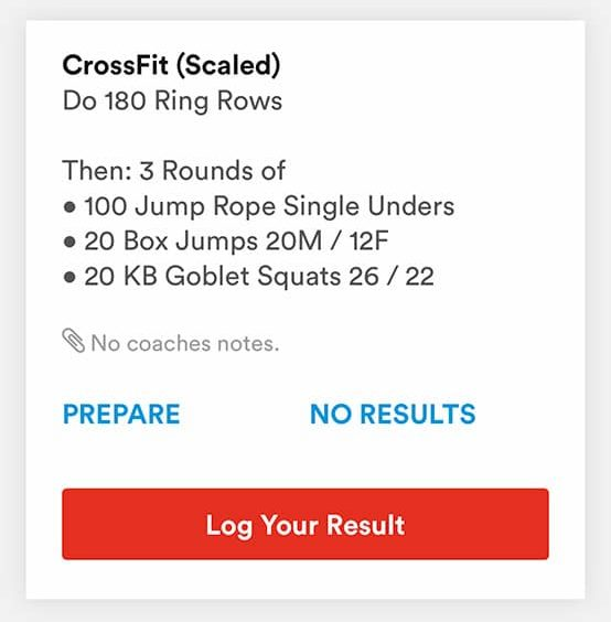 CrossFit Scaled