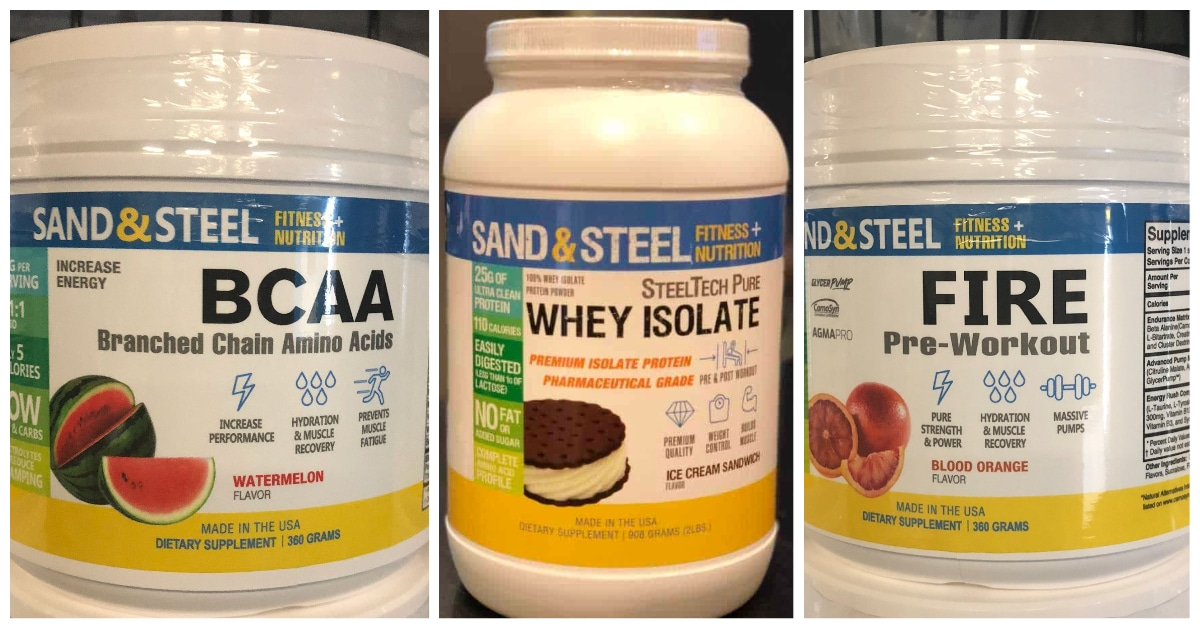 Sand and Steel Supplements BCAA Protein Preworkout