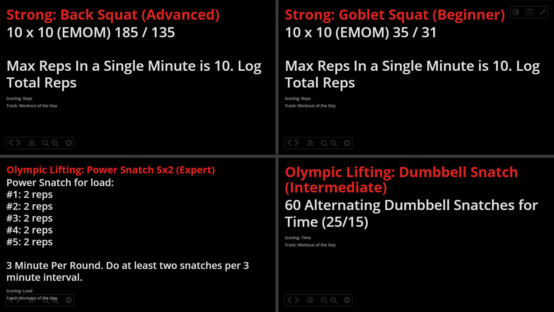 Workout of the Day WOD