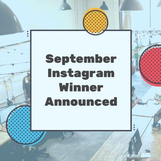 September Instagram Winner Announced