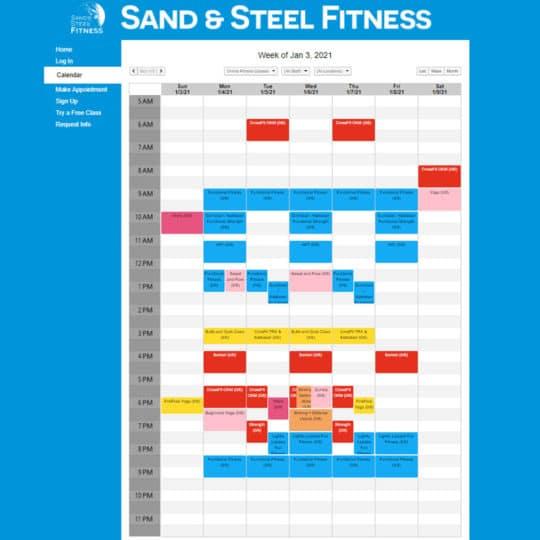 Online Fitness Class Schedule