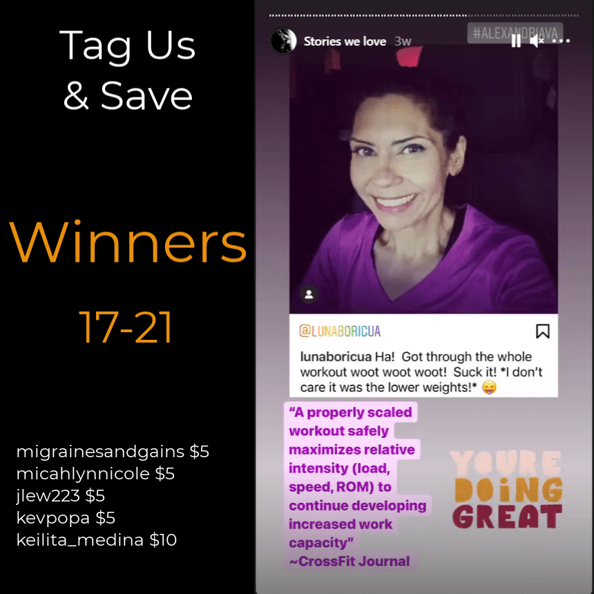 Tag Us and Save November Winners