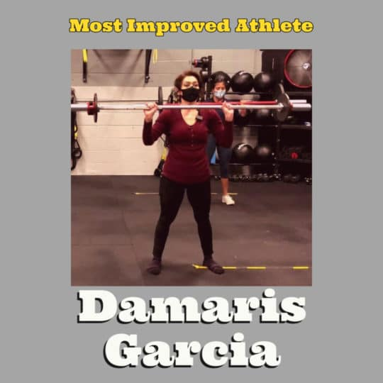 Most Improved Athlete Damaris