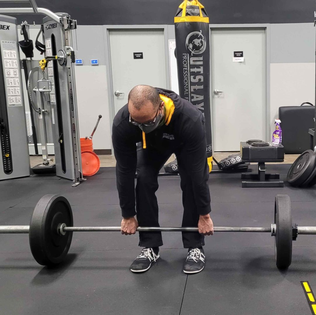 Brian Barbell Deadlift Starting Position - Front View
