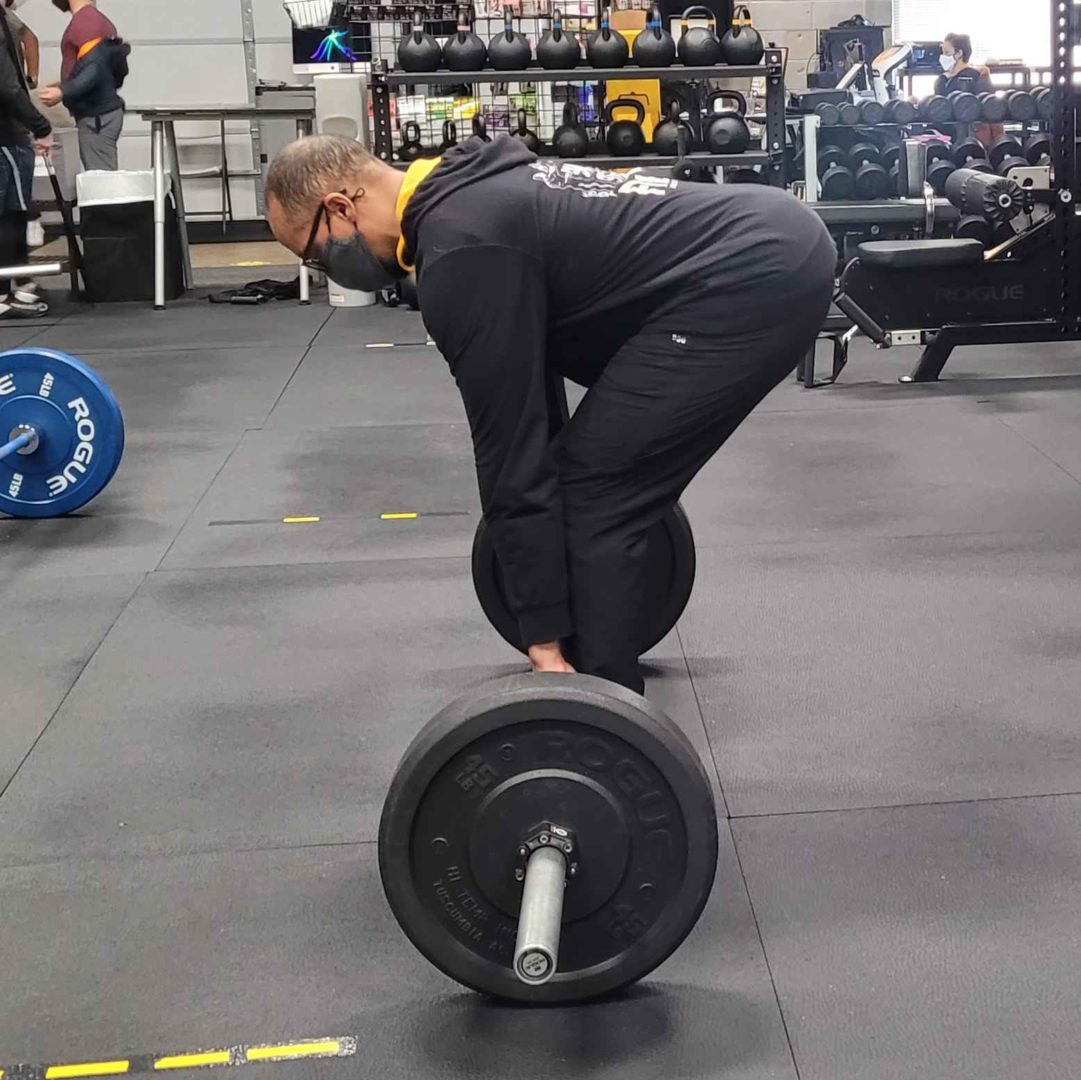 Brian Barbell Deadlift Starting Position Side View