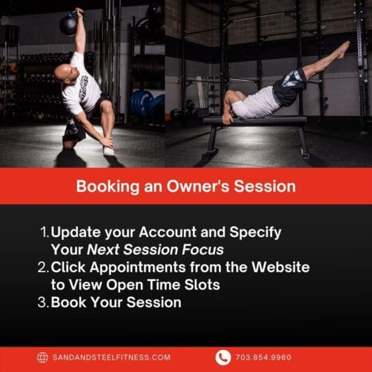 Booking an Owner's Training Session