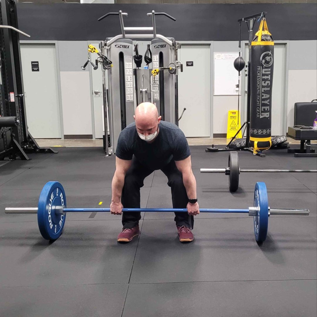 Paul Barbell Deadlift Starting Position Front View