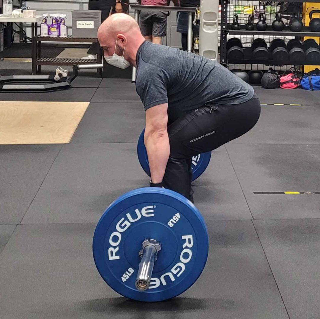 Paul Barbell Deadlift Starting Position - Side View