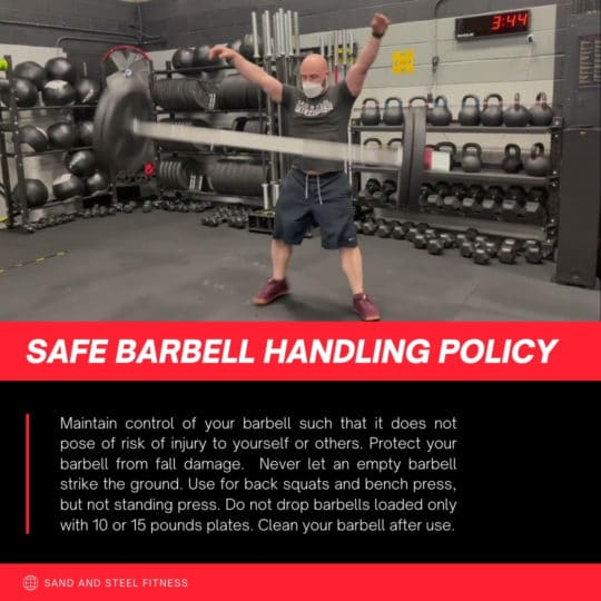 Safe Barbell Handling Policy