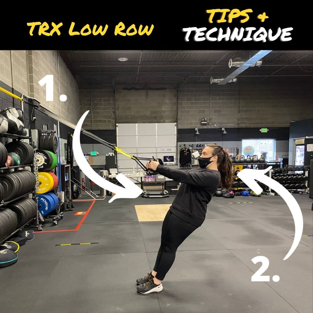 TRX Low Row Exercise Tips