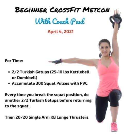 Beginner CrossFit Metcon Kettlebell