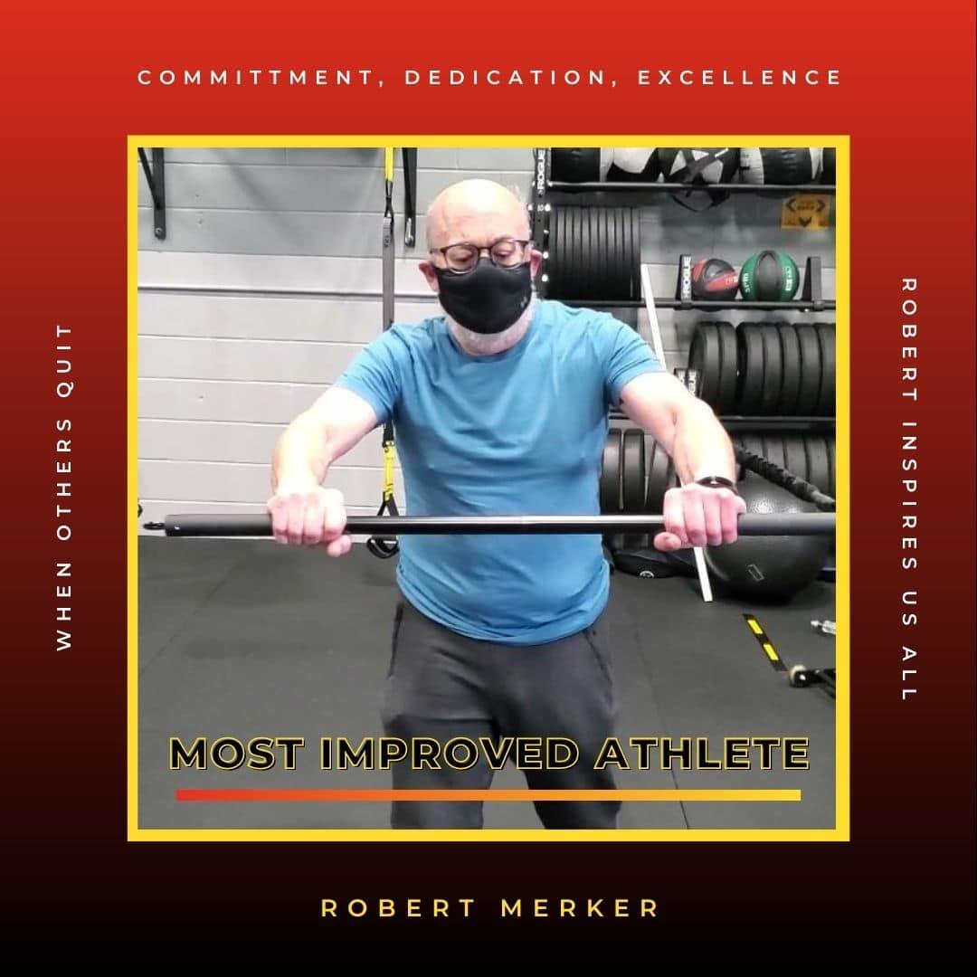 Most Improved Athlete Robert Merker