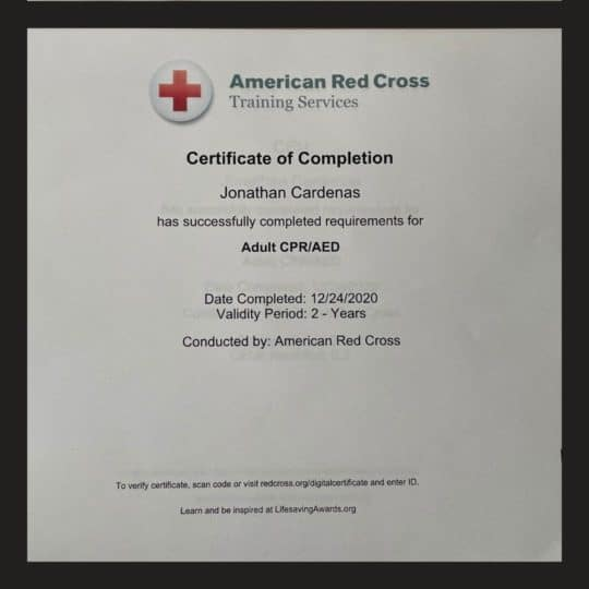 CPR/AED Certification