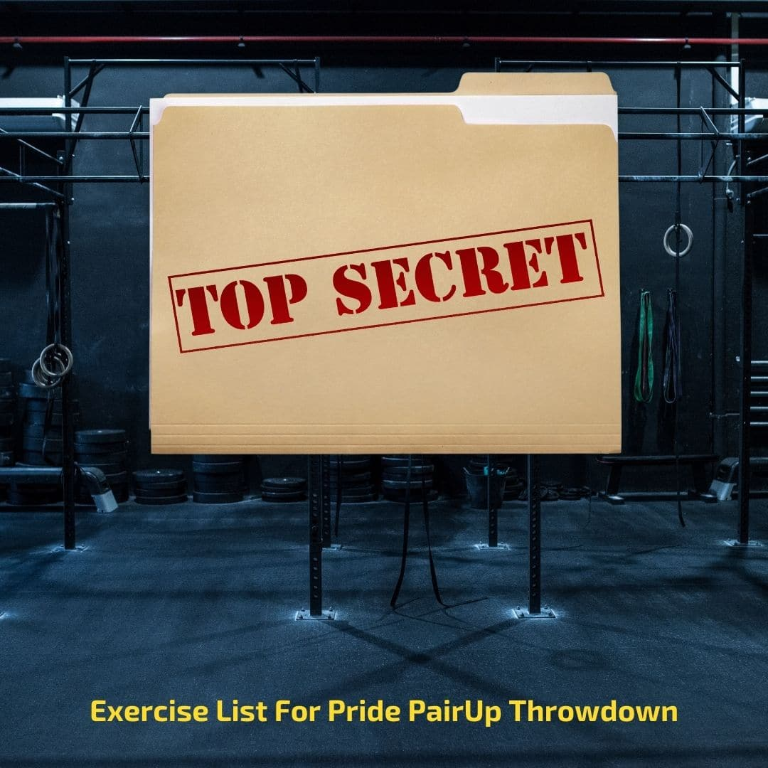 Exercise List For Pride PairUp Throwdown