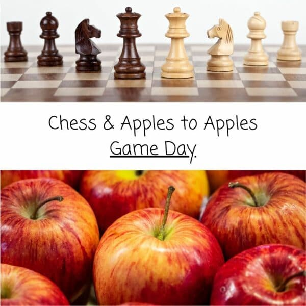Chess & Apples to Apples Game Day