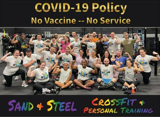 No Vaccine No Service Pride CrossFit Personal Training Alexandria 2-01